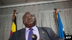 Le ministre des Affaires étrangères Henry Okello Oryem à Kampala, le 17 octobre 2012.