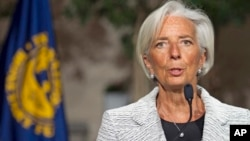 International Monetary Fund (IMF) Managing Director Christine Lagarde.