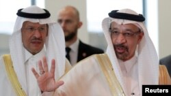 Saudi Arabia's Oil Minister Khalid al-Falih arrives for an OPEC meeting in Vienna, Austria, June 22, 2018.