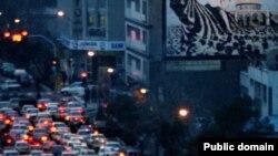 ترافیک تهران در شب