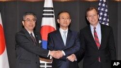 한미일 6자회담 수석대표 회담(자료사진)