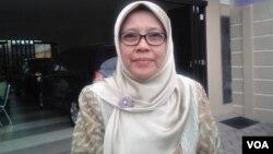 Ketua Pimpinan Pusat Aisyiah, Siti Noordjannah Djohantini. (Foto: VOA/Nurhadi)