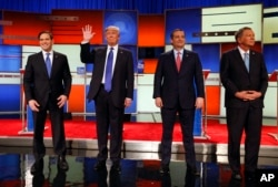 Marco Rubio, Donald Trump, Ted Cruz ve John Kasich
