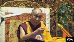 西藏精神領袖達賴喇嘛.(資料圖片)