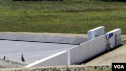 Tugu peringatan bagi korban serangan 11 September yang dibangun di Shanksville, Pennsylvania, diresmikan hari ini (10/9).