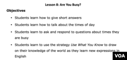 Lesson Plan for Let's Learn English Lesson 8
