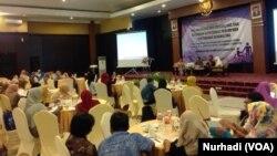 Workshop Perlindungan Hak Seksual dan Kesehatan Reproduksi Perempuan Penyandang Disabilitas di Yogyakarta. (Foto:VOA/Nurhadi)