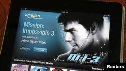 iPad上显示的亚马逊流媒体应用程序(2012年8月7日)