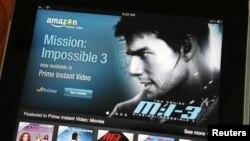 Video de Amazon en un iPad de Apple. La compañía de la manzana dejará por fuera a YouTube de su sistema operativo.