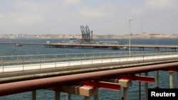 FILE - A general view of Libya's Hariga port in Tobruk, east of Benghazi.