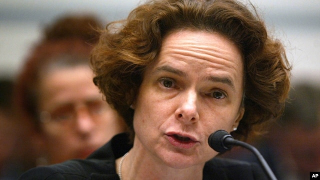 FILE - Dr. Nora Volkow, director of the National Institute on Drug Abuse, testifies during a hearing on Capitol Hill in Washington, March 2005.