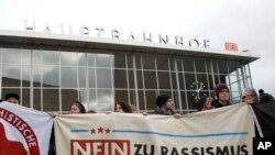 科隆示威者抗議發生新年性侵事件