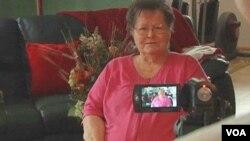 Anna Marie Dorcas comparte sus memorias con su familia en unn legado audiovisual.