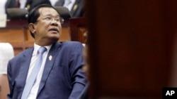 FILE - Cambodia's Prime Minister Hun Sen.