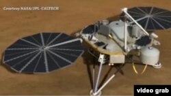 وسیلۀ تحقیقاتی 'انسایت' پس از یک سفر شش ماهه و پیمودن ۴٨٢ میلیون کیلومتر فاصله، به روز دوشنبه در سطح مریخ نشست کرد.
