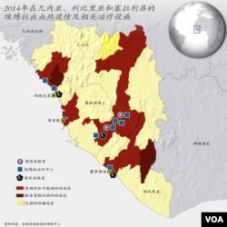 2014年在几内亚、利比里亚和塞拉利昂的埃博拉出血热疫情及相关治疗设施