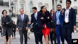 2018年11月14日新当选的美国国会众议员华盛顿国会山合影