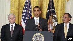 左起:盖茨,奥巴马,帕内塔