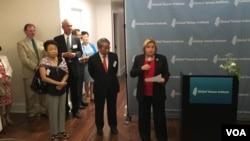 眾議院外交委員會榮譽主席羅斯雷提南在成立全球台灣研究中心酒會致辭。