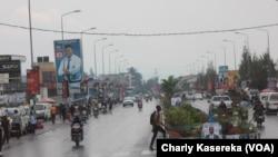 La Ville de Goma avec les photos de campagne électorale, 18 décembre 2018. (VOA/Charly Kasereka)