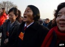 資料照:中國全國人大代表申紀蘭 (2013年3月5日)