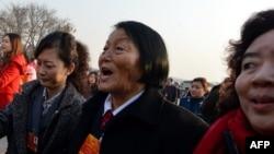 前中国全国人大代表申纪兰 (资料照)