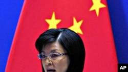中国外交部发言人姜瑜在北京新闻发布会上