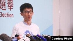 香港新科立法会议员、青年新政的召集人梁颂恒(梁颂恒脸书图片)