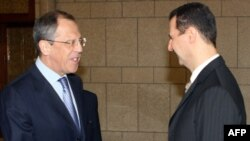 Сергей Лавров и Башар Асад. Архивное фото