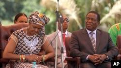 Amai Grace Mugabe naVaEmmerson Mnangagwa muna 2016