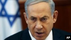 Israel's Prime Minister Benjamin Netanyahu attends cabinet meeting, Jerusalem, May 26, 2015.