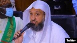 Daya daga cikin Limaman Masallacin Makka, Farfesa Hassan Abdulhamid Bukhari (Twitter/ @GovBorno)