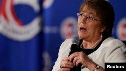 """""""[Espero] se apliquen todas las medidas y los planes de contingencia que permitan resolver esta emergencia"""", dijo Bachelet."""