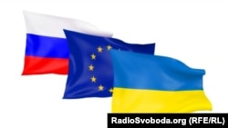 Flags - Ukraine-EU-Russia
