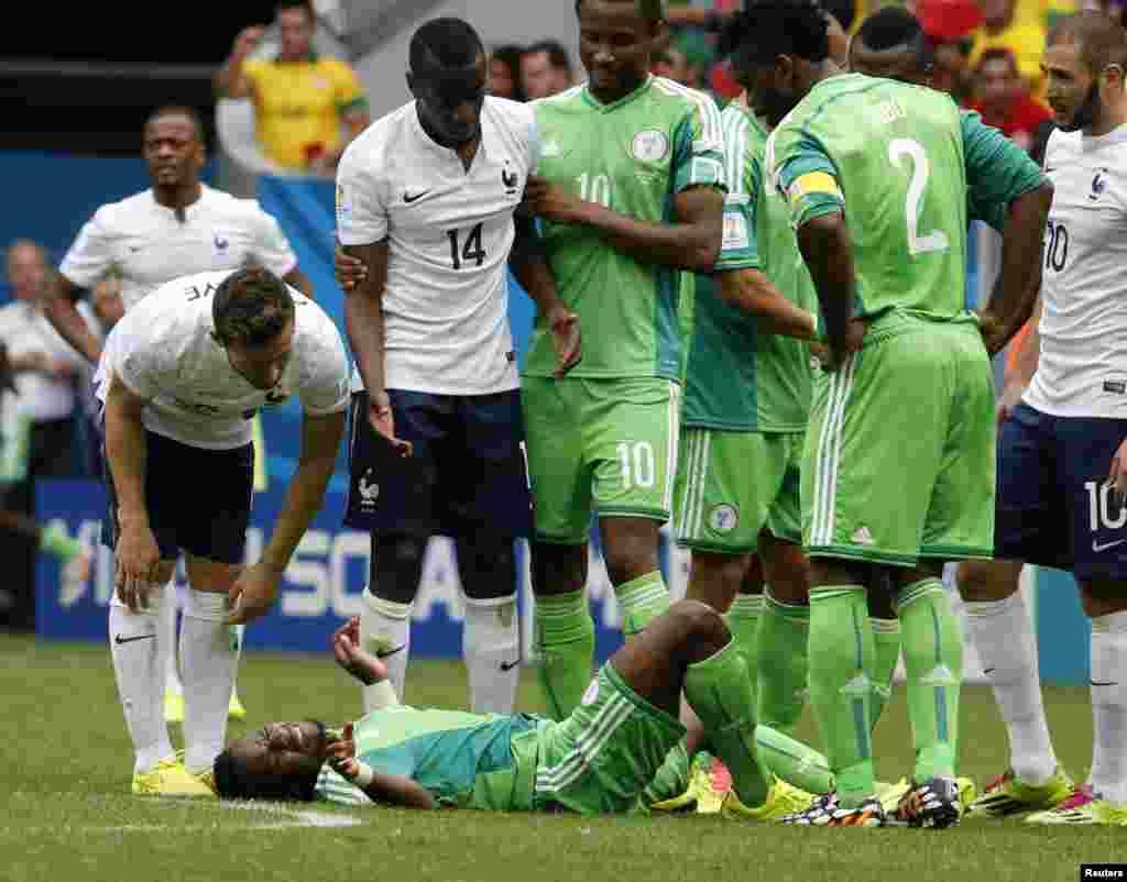 فرانس اور نائجیریا کی ٹیموں کے مابین میچ دارالحکومت برازیلیا کے برازیلیا نیشنل سٹیڈیم میں کھیلا گیا۔