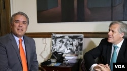 Hoy junio 29, es el tercer día de la visita del presidente electo de Colombia, Iván Duque, a la capital estadounidense.