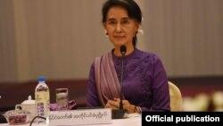 ႏိုင္ငံေတာ္အတုိင္ပင္ခံပုဂၢိဳလ္ ေဒၚေအာင္ဆန္းစုၾကည္ (Photo- Myanmar State Counsellor FB )