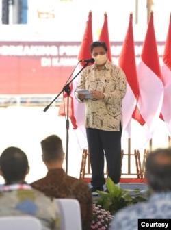 Menko Perekonomian Airlangga Hartarto mengatakan pembangunan Smelter PT Freeport Indonesia bersejarah karena selama puluhan tahun negara lain yang diuntungkan dari cadangan tembaga di Indonesia. (Biro Setpres)