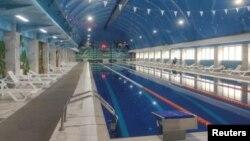 An interior view shows a swimming pool at the Arena spa-complex in Kaspiysk near Makhachkala, Russia January 22, 2020. (REUTERS/Anastasia Rasulova)