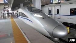 中国北车和德国西门子公司合作推出的列车设计(资料照片)