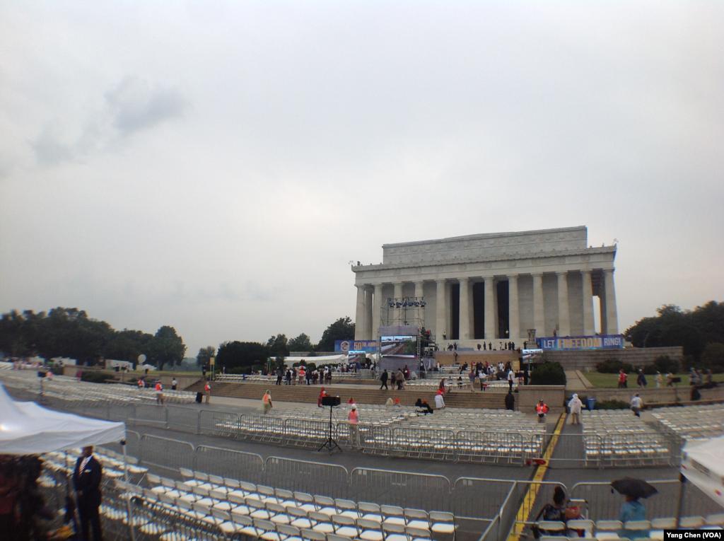 林肯紀念堂(美國之音楊晨拍攝)