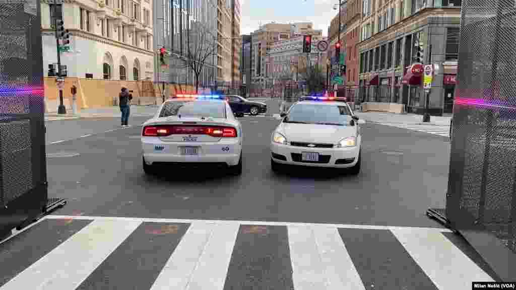 USA, Washington, city center ahead of inauguration