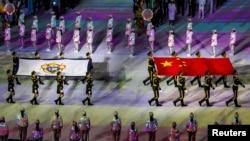 武漢第七屆世界軍人運動會開幕式。 (2019年10月18日)