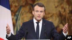 Emmanuel Macron, Paris, le 3 janvier 2018.