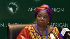 South African Home Affairs Minister Nkosazana Dlamini-Zuma addresses the media during the leaders meeting at the African Union (AU) in Addis Ababa July 15, 2012.