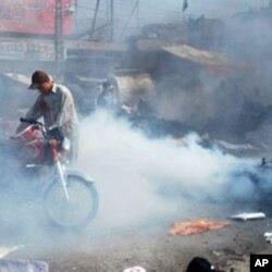 کوئٹہ میں یوم القدس ریلی پر خودکش حملے کے بعد کا منظر