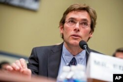 FILE - Virginia Tech environmental engineering professor Marc Edwards testifies on Capitol Hill in Washington, March 15, 2016.