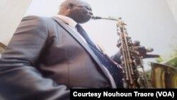 """Nouhoun Traore, du groupe """"Echo Del Africa""""."""