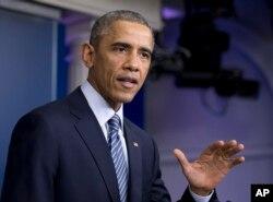 Претседателот Обама се обрати до нацијата кусо време откако беше соопштена одлуката на Големата порота