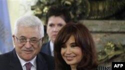 Махмуд Аббас и Кристина Фернандес